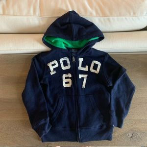 POLO by Ralph Lauren Navy with Green Hoodie